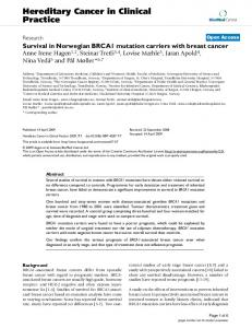 Hereditary Cancer in Clinical Practice - Springer Link