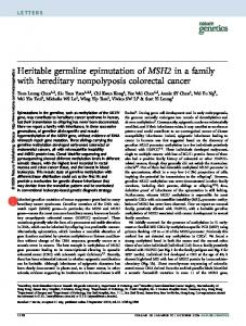 Heritable germline epimutation of MSH2 in a family with hereditary ...