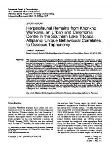 Herpetofaunal Remains from Khonkho ... - Wiley Online Library