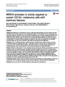HERV-K activation is strictly required to sustain ... - Springer Link