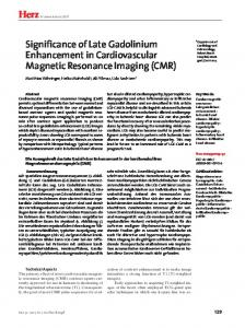 Herz Significance of Late Gadolinium Enhancement in Cardiovascular ...