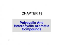 Heterocyclic Aromatic Compounds - Home Pages of All Faculty at ...