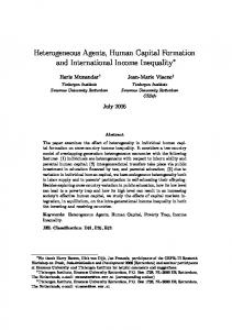 Heterogeneous Agents, Human Capital Formation and International ...