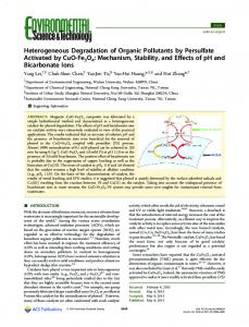 Heterogeneous Degradation of Organic Pollutants ... - ACS Publications