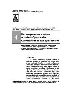 Heterogeneous electron transfer of pesticides Current