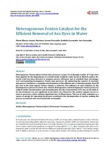 Heterogeneous Fenton Catalyst for the Efficient Removal of Azo Dyes ...