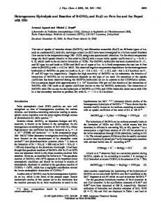 Heterogeneous Hydrolysis and Reaction of ... - ACS Publications