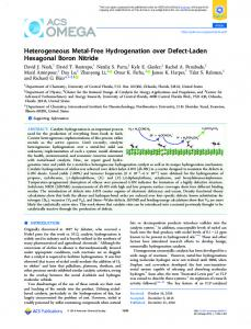 Heterogeneous Metal-Free Hydrogenation over ... - ACS Publications