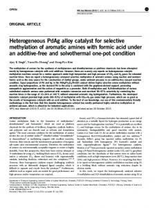 Heterogeneous PdAg alloy catalyst for selective methylation ... - Nature