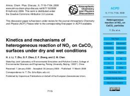 Heterogeneous reaction of NO2 on CaCO3 particles