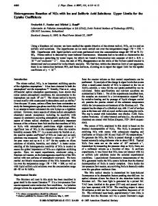 Heterogeneous Reaction of NO3 with Ice and Sulfuric Acid Solutions ...