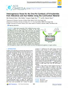 Heterogeneous Route for the One-Pot Synthesis of ... - ACS Publications