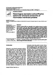 Heterologous expression and purification systems for ... - Hindawi