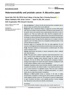 Heteronormativity and prostate cancer: A ... - Wiley Online Library