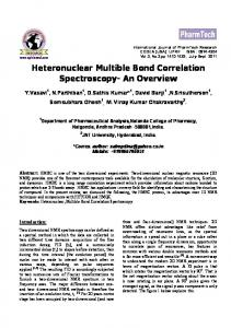 Heteronuclear Multible Bond Correlation Spectroscopy - International ...