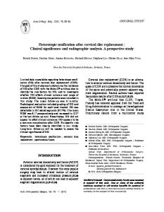 Heterotopic ossification after cervical disc replacement: Clinical ...