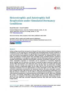 Heterotrophic and Autotrophic Soil Respiration under Simulated ...