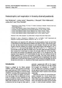 heterotrophic soil respiration in forestry-drained peatlands - Boreal ...
