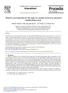 Heuristic Search Algorithm for the Single-row ... - Science Direct