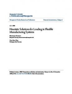 Heuristic Solutions for Loading in Flexible ... - Semantic Scholar