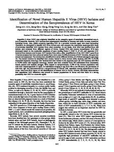 HEV - Journal of Clinical Microbiology - American Society for ...