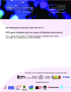 HFE gene mutations and iron status of Brazilian ... - Semantic Scholar