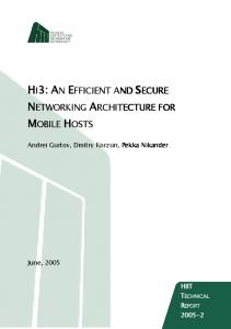 hi3: an efficient and secure networking architecture for mobile hosts