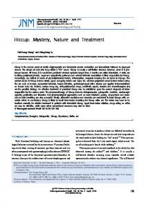 Hiccup: Mystery, Nature and Treatment - Journal of ...