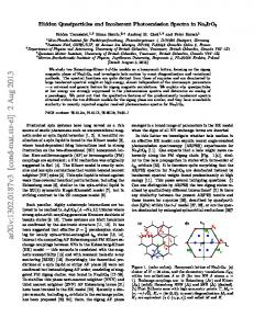 Hidden Quasiparticles and Incoherent Photoemission Spectra in ...