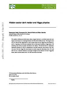 Hidden sector dark matter and Higgs physics