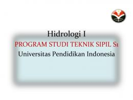 Hidrologi I - File UPI - Universitas Pendidikan Indonesia