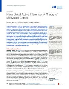 Hierarchical Active Inference: A Theory of Motivated Control - Cell Press
