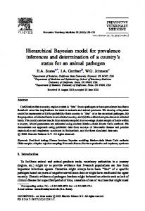 Hierarchical Bayesian model for prevalence inferences and ...