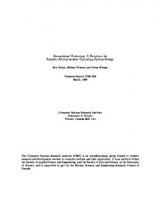 Hierarchical Clustering: A Structure for Scalable ... - CiteSeerX