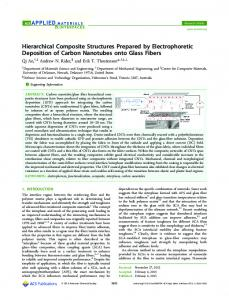 Hierarchical Composite Structures Prepared by Electrophoretic ...