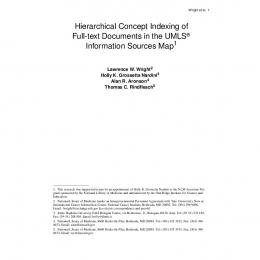 Hierarchical Concept Indexing of Full-text ... - Indexing Initiative - NIH