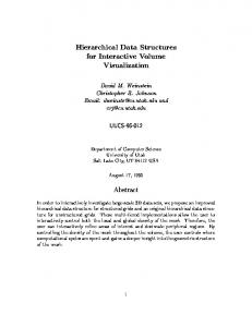Hierarchical Data Structures for Interactive Volume ... - CiteSeerX