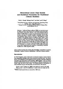 Hierarchical Latent Class Models and Statistical ... - Semantic Scholar