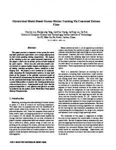 Hierarchical Model-Based Human Motion Tracking ...
