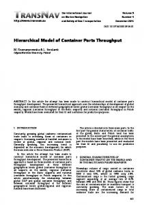 Hierarchical Model of Container Ports Throughput - TransNav Journal
