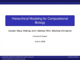 Hierarchical Modeling for Computational Biology