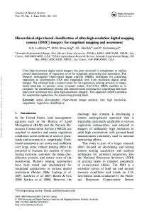 Hierarchical object-based classification of ultra-high-resolution digital ...