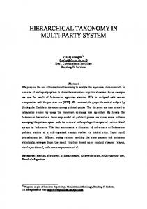 hierarchical taxonomy in multi-party system - arXiv