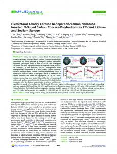 Hierarchical Ternary Carbide Nanoparticle/Carbon ... - ACS Publications
