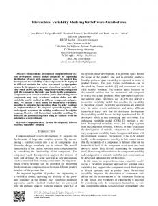Hierarchical Variability Modeling for Software Architectures - arXiv