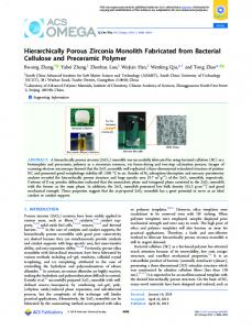 Hierarchically Porous Zirconia Monolith Fabricated ... - ACS Publications