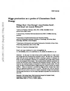 Higgs production as a probe of Chameleon Dark Energy