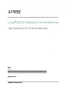 High Availability for EX9200 Switches - Juniper net