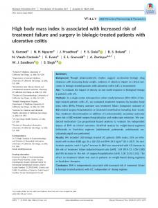 High body mass index is associated with increased ...