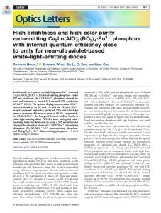 High-brightness and high-color purity red-emitting ... - OSA Publishing